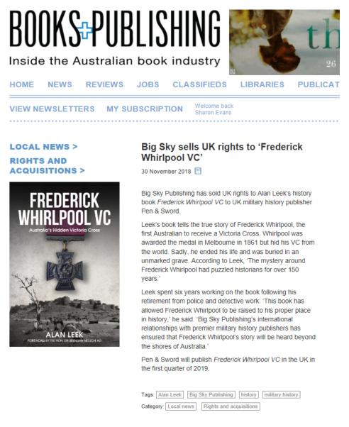 Alan Leek Books And Publishing Article